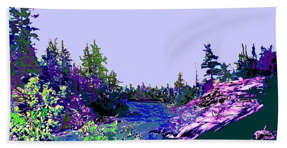 Norlthern Bath Towel featuring the photograph Northern Ontario River by Ian MacDonald