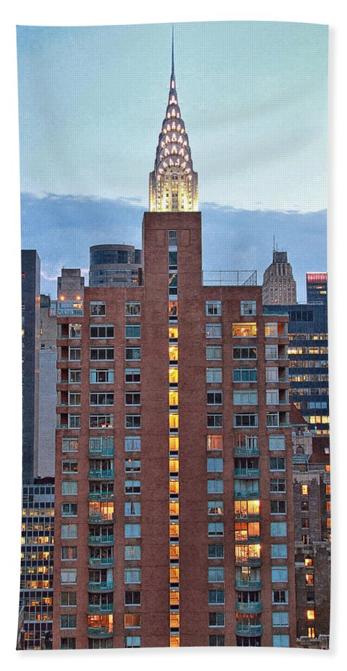 Nyc Hand Towel featuring the photograph Not The Chrysler Building Nyc by Bob Slitzan