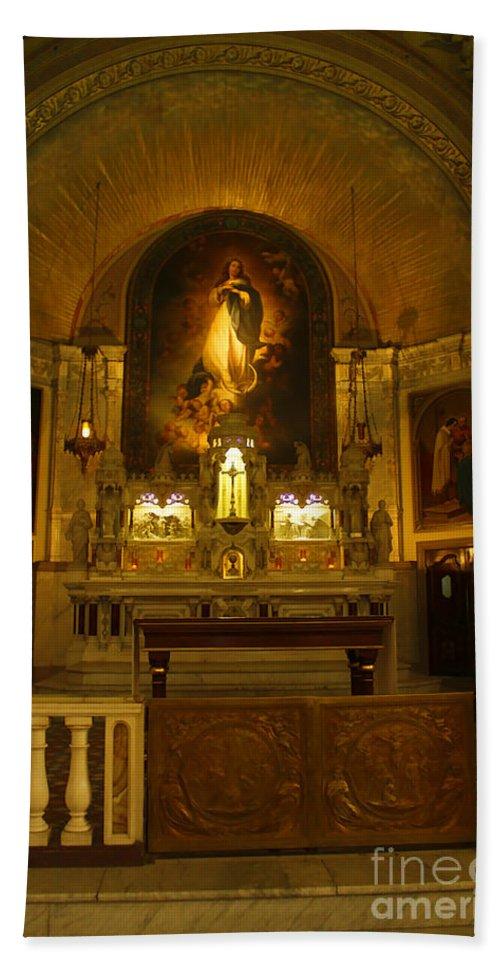 Church Bath Sheet featuring the photograph Notre-dame-de-bon-secours Chapel by Deborah Benoit