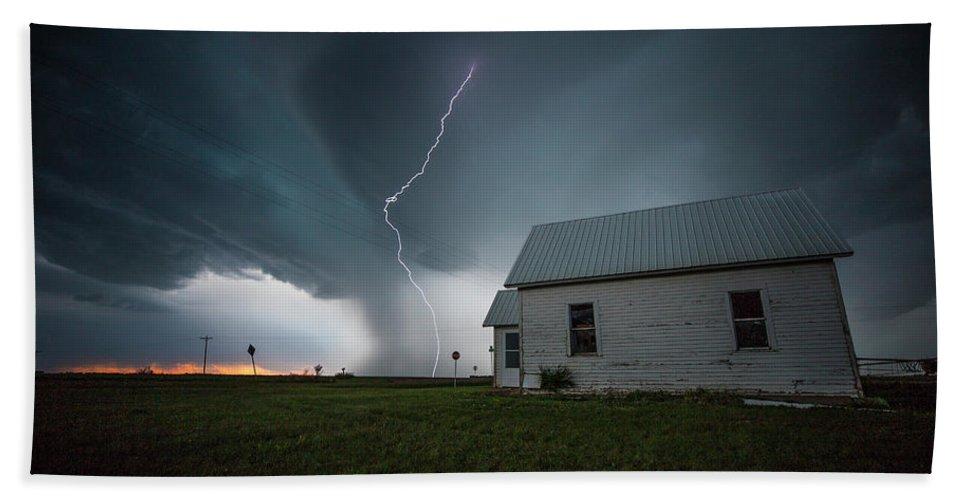 Sky Bath Sheet featuring the photograph Nowhere To Run by Aaron J Groen