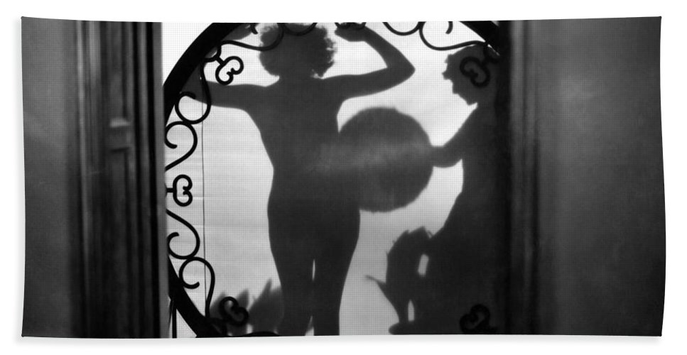 1920s Hand Towel featuring the painting Nude Shadow, 1920s by Granger