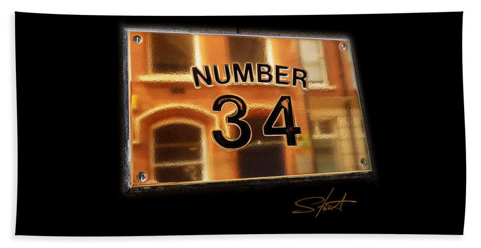 Number Bath Sheet featuring the photograph Number 34 by Charles Stuart