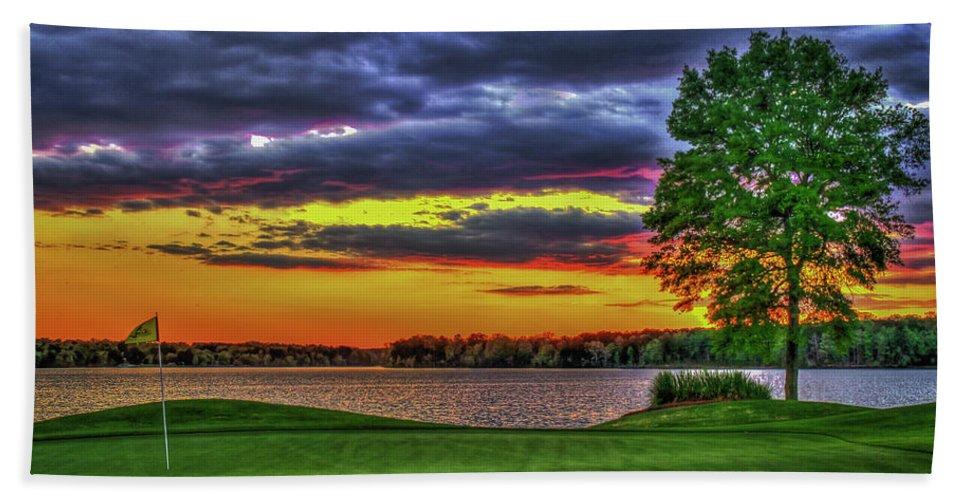Best Golf Hand Towel featuring the photograph Number 4 The Landing Reynolds Plantation Golf Art by Reid Callaway