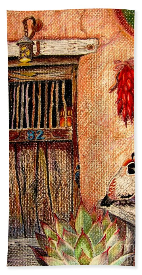Southwest Wall Hand Towel featuring the drawing Number 82 by Marilyn Smith