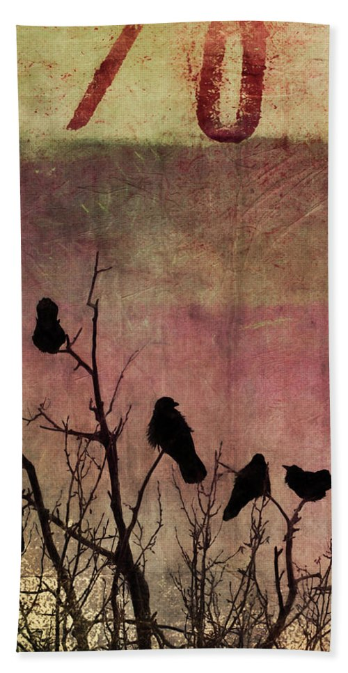 Raven Hand Towel featuring the photograph Numbered by Priska Wettstein