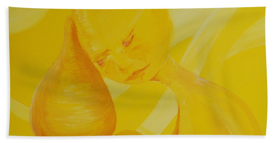 Rainbow Soul Collection Hand Towel featuring the painting Nurture Rainbow Soul Collection by Catt Kyriacou