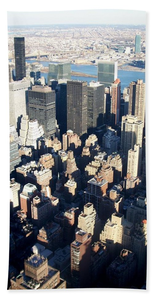 Nyc Hand Towel featuring the photograph Nyc 4 by Anita Burgermeister