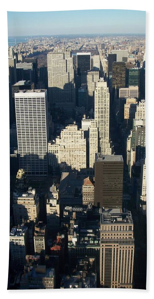 Nyc Hand Towel featuring the photograph Nyc 5 by Anita Burgermeister