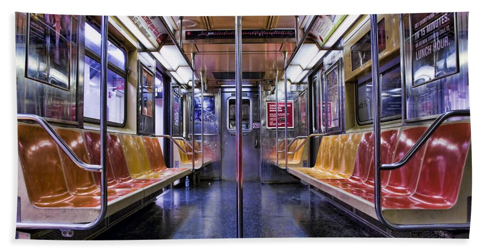 Subway Bath Sheet featuring the photograph Nyc Subway by Kelley King