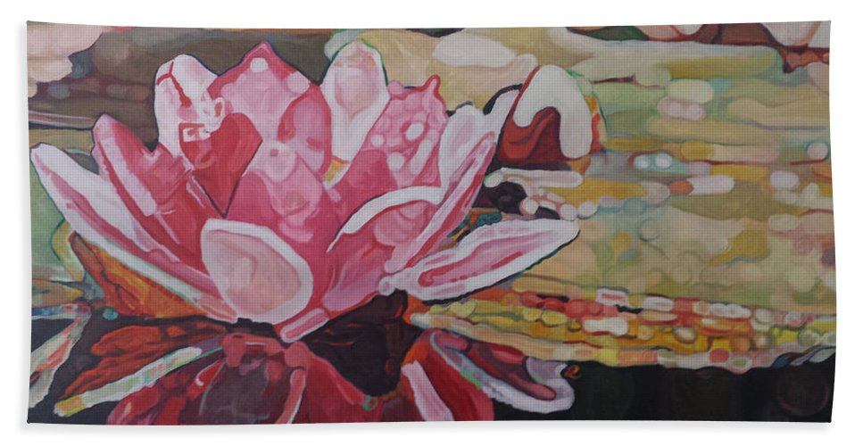 Flower Hand Towel featuring the painting Nymphea by Edwin Villavera