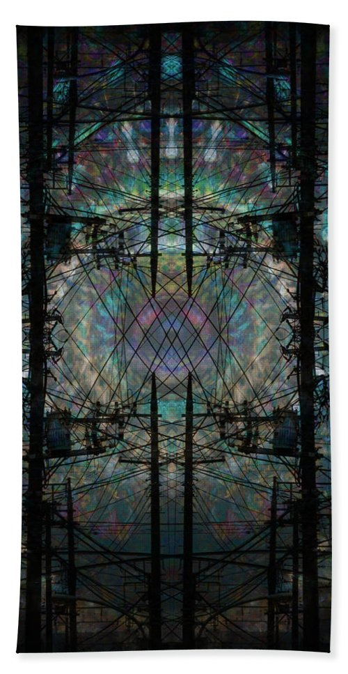 Deep Hand Towel featuring the digital art Oa-5517 by Standa1one