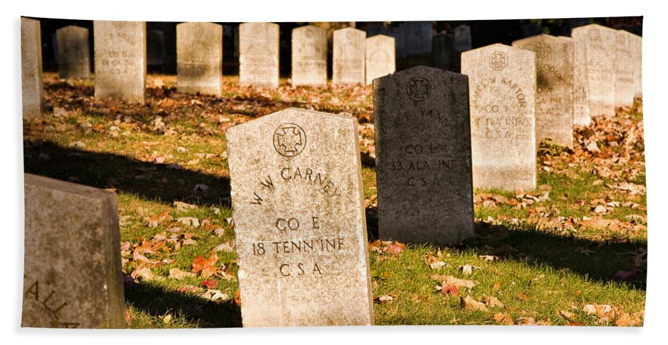 Travel Hand Towel featuring the photograph Oakland Cemetery Atlanta by Louise Heusinkveld