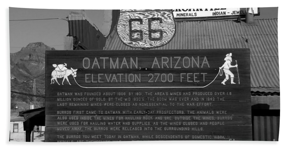 Oatman Arizona Hand Towel featuring the photograph Oatman Arizona by David Lee Thompson