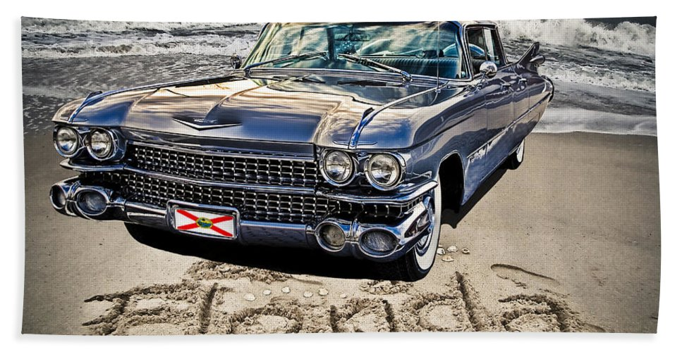 Cadillac Hand Towel featuring the photograph Ocean Drive by Joachim G Pinkawa