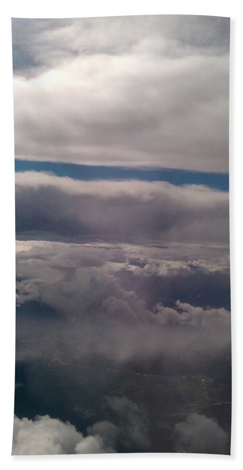Clouds Hand Towel featuring the photograph Ocean In The Sky by Tamivision