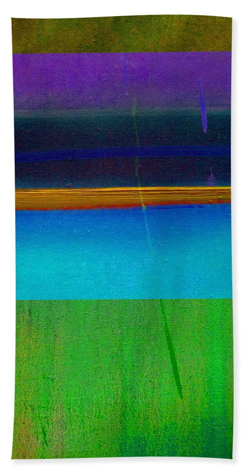 Landscape Bath Towel featuring the painting Ocean Light by Charles Stuart