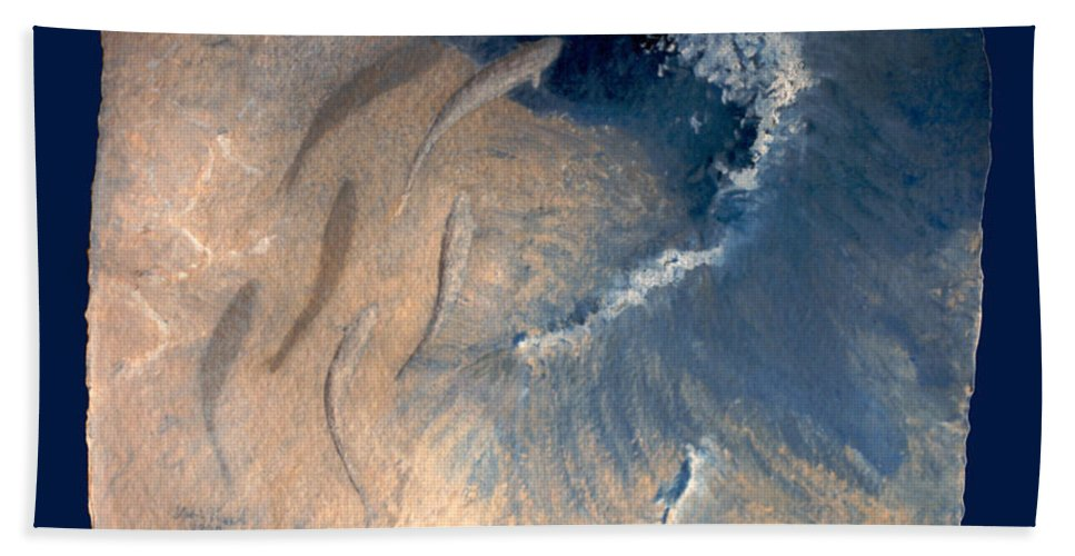 Seascape Hand Towel featuring the painting Ocean by Steve Karol