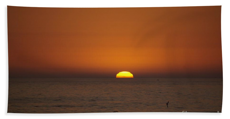 Ocean Bath Sheet featuring the photograph Ocean Sunset by Jim And Emily Bush
