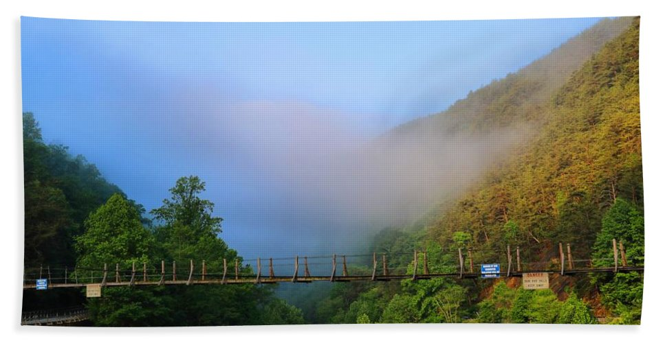 Ocoee Dam Bath Sheet featuring the photograph Ocoee Dam 1 by Kathryn Meyer