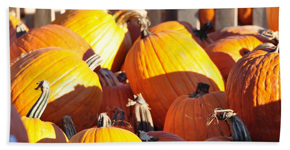 Pumpkins Bath Towel featuring the photograph October Color by Jan Amiss Photography