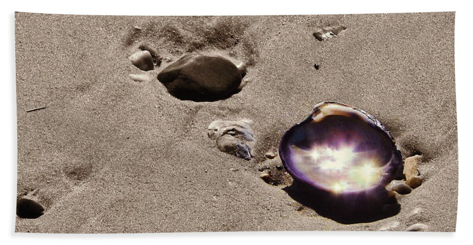 Ocean Bath Sheet featuring the photograph October Sparkling by JAMART Photography