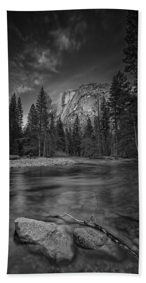 Half Dome Bath Towel featuring the photograph Ode To Ansel Adams by Rick Berk