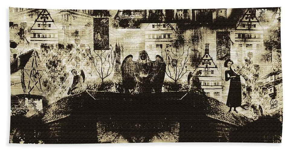 Angels Hand Towel featuring the digital art Oh Bosch by RC DeWinter