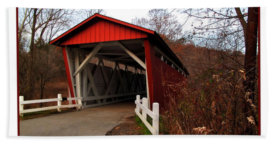Bridge Hand Towel featuring the photograph Ohio Covered Bridge by Joan Minchak