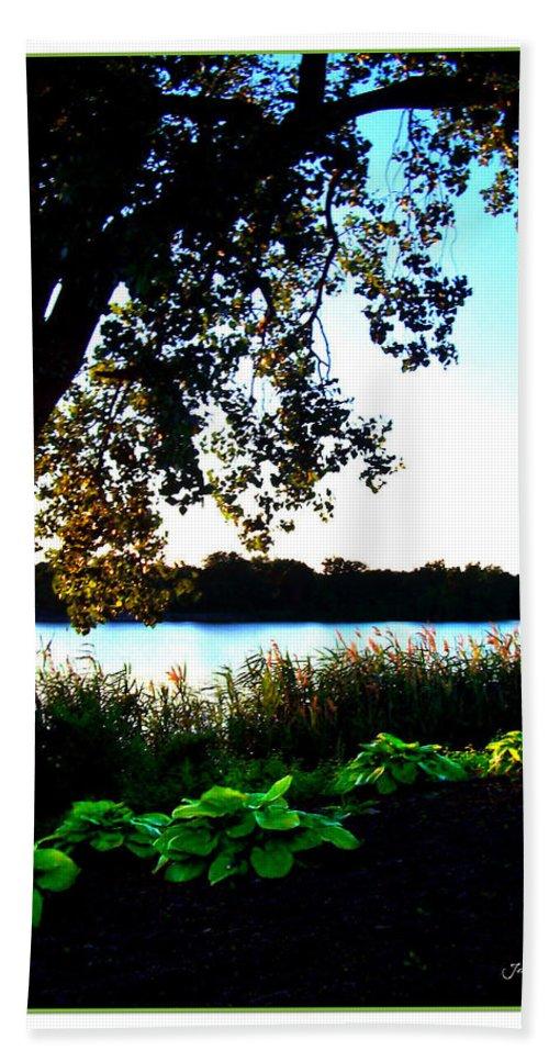 Blue Bath Sheet featuring the photograph Ohio Pond by Joan Minchak