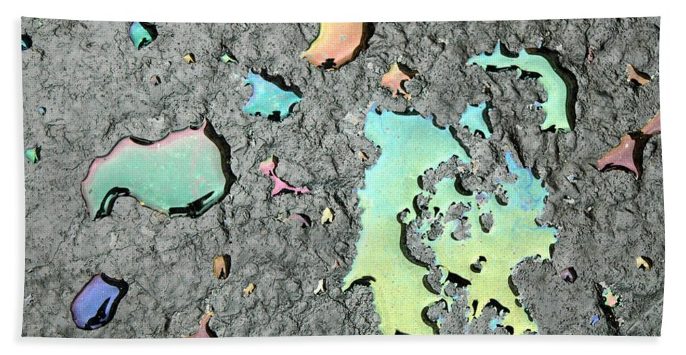 Oil Bath Sheet featuring the photograph Oil Abstract by Trish Hale