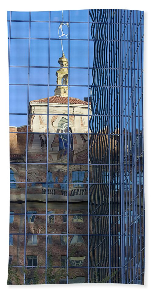 Architecture Hand Towel featuring the photograph Old And New Patterns by Phyllis Denton