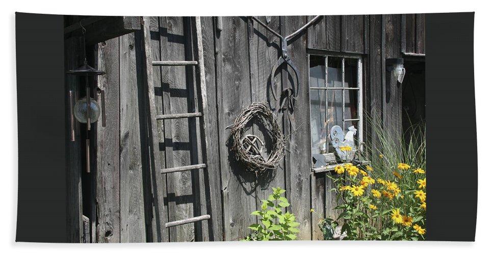 Barn Bath Sheet featuring the photograph Old Barn II by Margie Wildblood