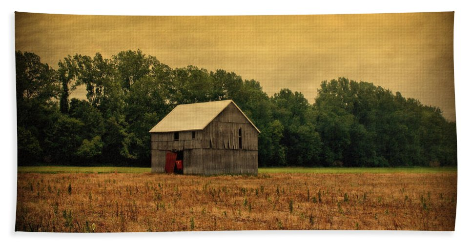 Barns Hand Towel featuring the photograph Old Barn by Sandy Keeton