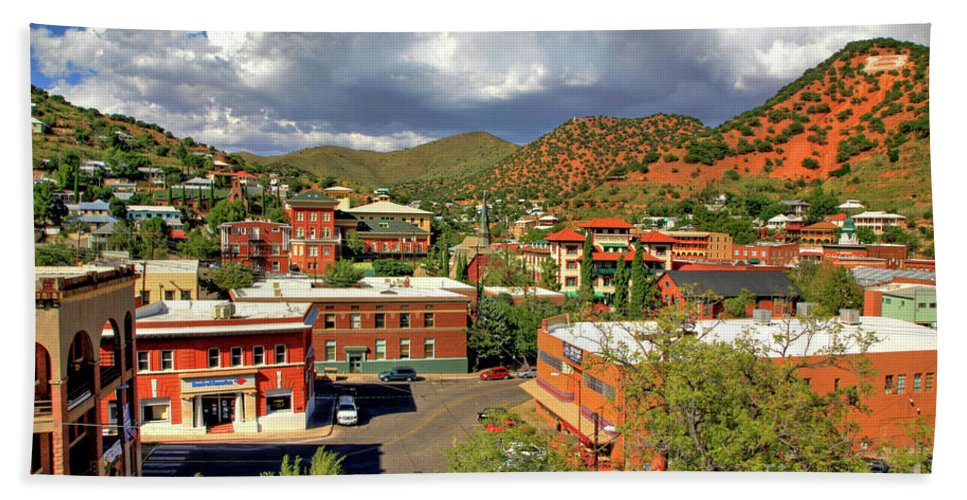 Nature Bath Sheet featuring the photograph Old Bisbee Arizona by Charlene Mitchell