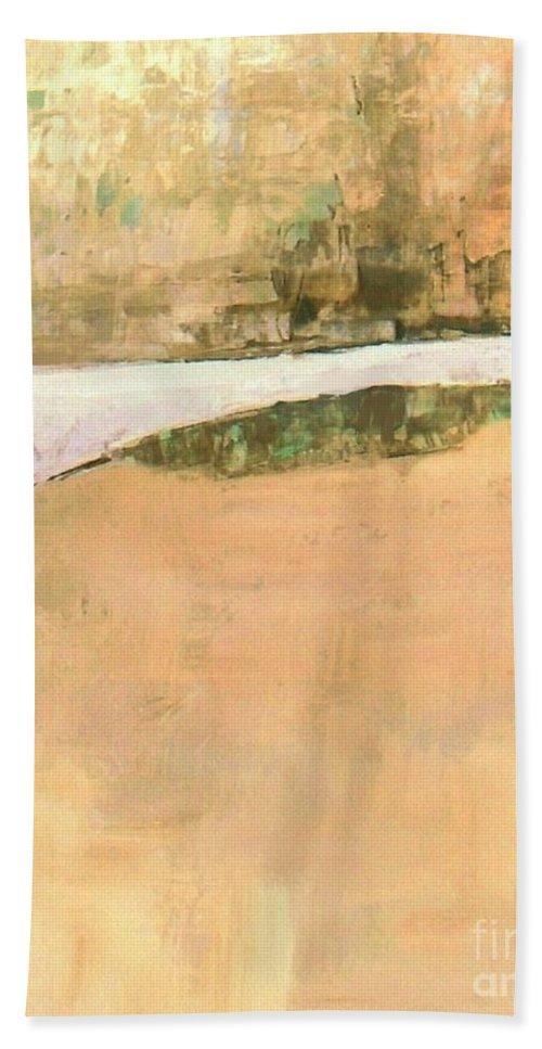 Bridge Bath Sheet featuring the painting Old Bridge by Vesna Antic