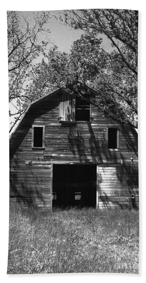 Barrns Hand Towel featuring the photograph Old Cedar Barn by Richard Rizzo