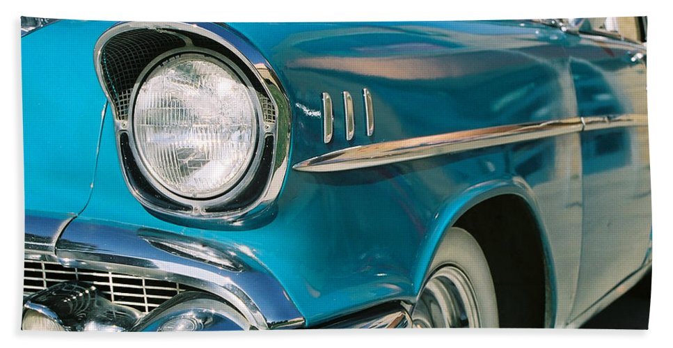 Chevy Bath Sheet featuring the photograph Old Chevy by Steve Karol