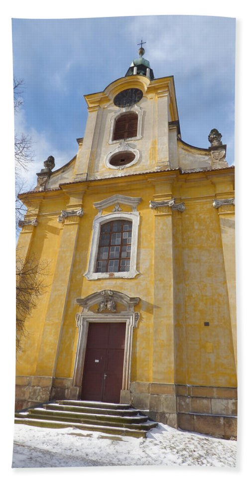 Church Hand Towel featuring the photograph Old Church by Miroslav Nemecek