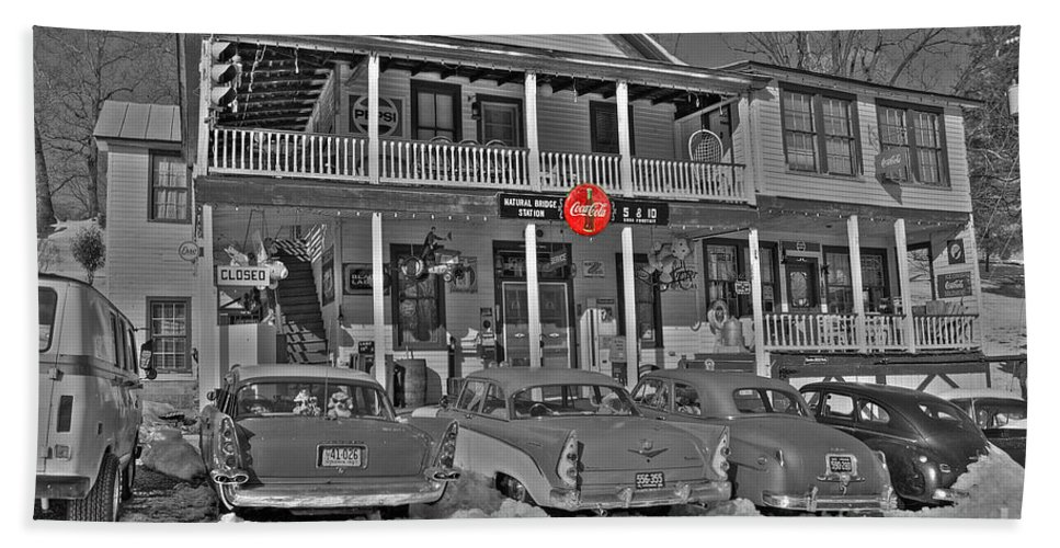 Old Bath Sheet featuring the photograph Old Country Store by Todd Hostetter
