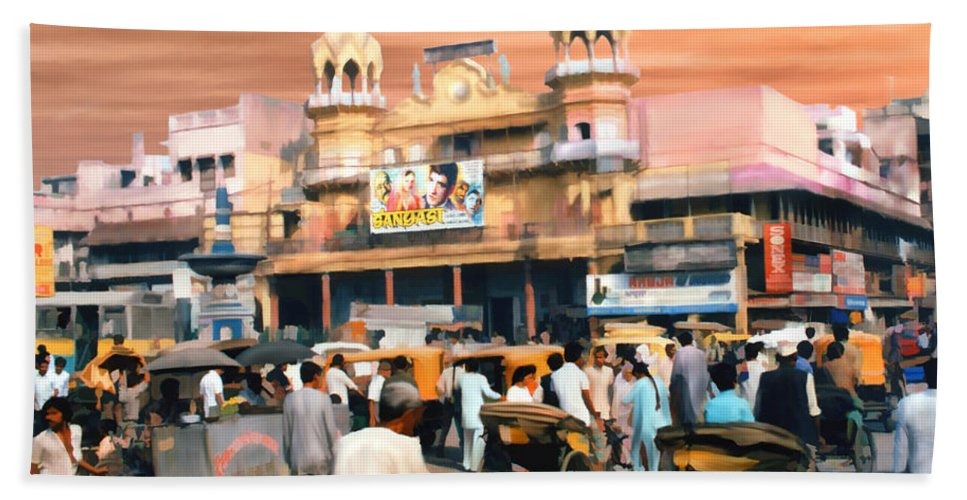 India Bath Sheet featuring the photograph Old Dehli by Kurt Van Wagner