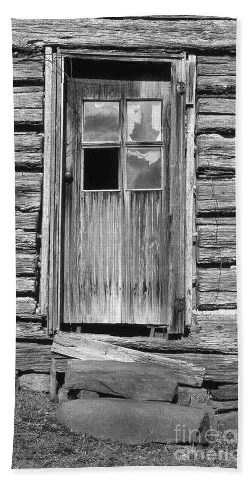 Aged Hand Towel featuring the photograph Old Door by Richard Rizzo