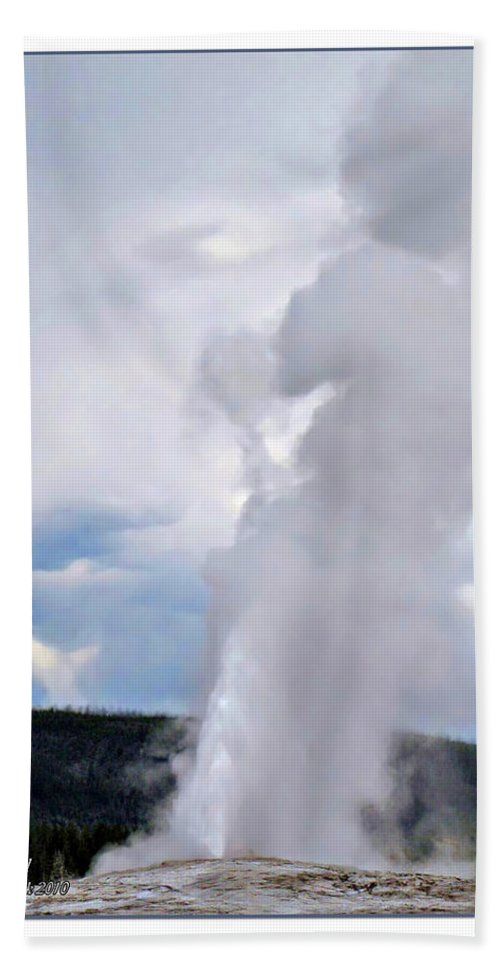 Clouds Hand Towel featuring the photograph Old Faithful by Joan Minchak