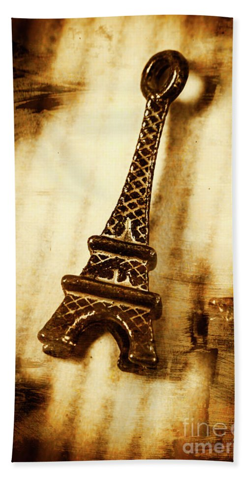 Souvenir Hand Towel featuring the photograph Old Fashion Eiffel Tower Souvenir by Jorgo Photography - Wall Art Gallery