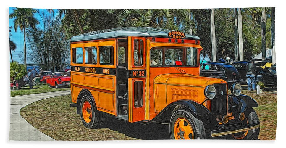 Museum Hand Towel featuring the photograph Old Ford School Bus No. 32 by Ginger Wakem