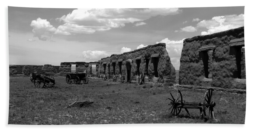 Fort Union New Mexico Bath Sheet featuring the photograph Old Fort Union by David Lee Thompson