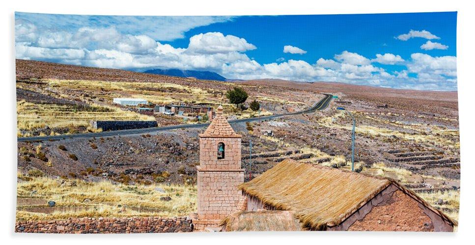 Atacama Hand Towel featuring the photograph Old Historic Church by Jess Kraft