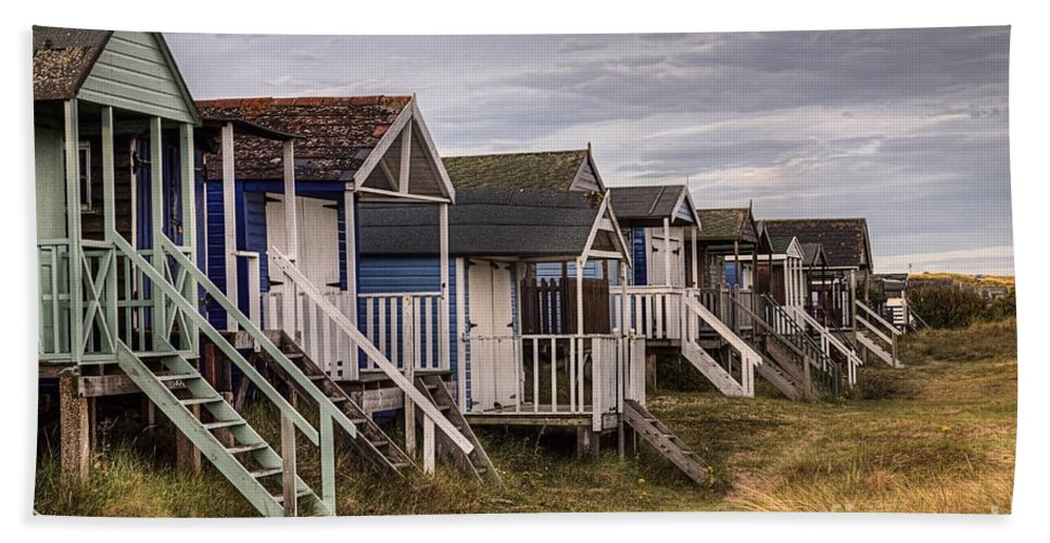 Hut Hand Towel featuring the photograph Beach Huts At Old Hunstanton by John Edwards
