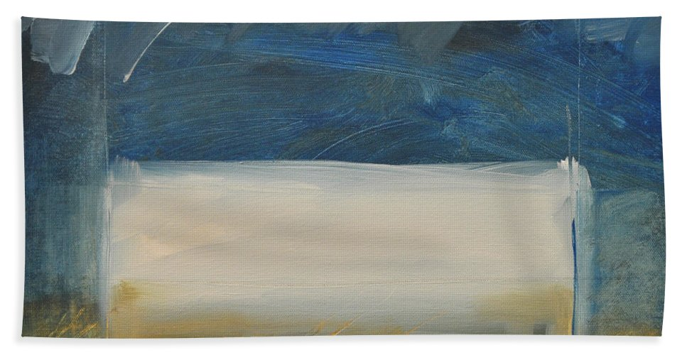 Rothko Hand Towel featuring the painting Old Macrothko Had A Farm by Tim Nyberg