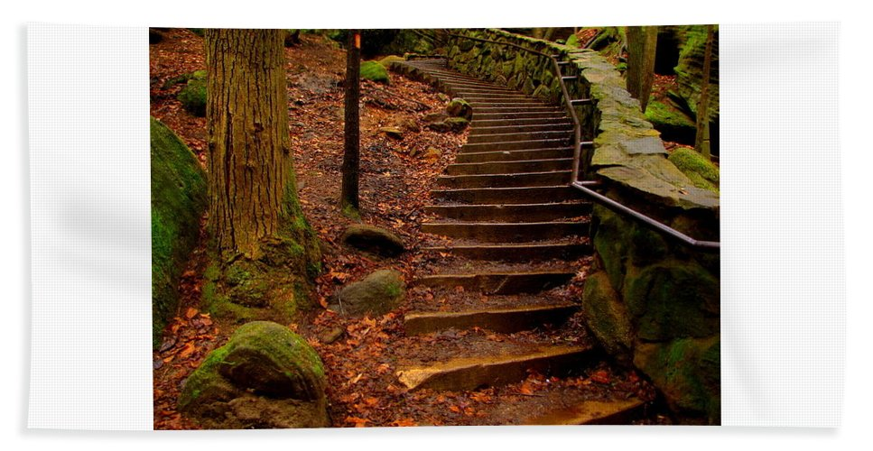 Old Bath Sheet featuring the photograph Old Man's Stairs by Scott Heaton