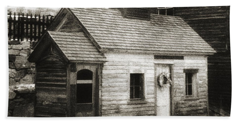 Infrared Bath Sheet featuring the photograph Old Miner by Marilyn Hunt